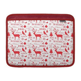 Rustikaler Weihnachtsren-Baum-Vogel-Feiertag Sleeve Fürs MacBook Air