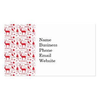 Rustikaler Weihnachtsren-Baum-Vogel-Feiertag Visitenkarten