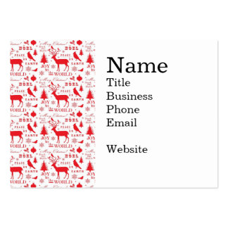 Rustikaler Weihnachtsren-Baum-Vogel-Feiertag Mini-Visitenkarten