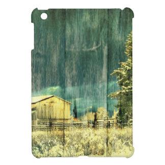 Rustikaler Winter immergrüne alte barnwood iPad Mini Hülle