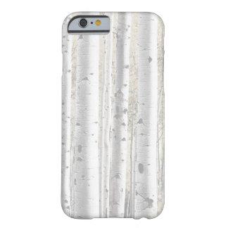 Rustikaler Winter-weiße Birken-Baum-Wald Barely There iPhone 6 Hülle