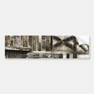 Rustikales altes Holz und Stein-Gebäude Auto Aufkleber