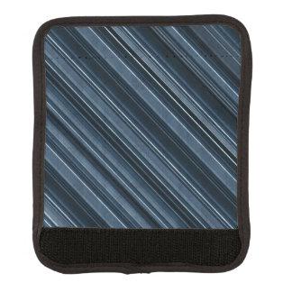 """Rustikales blaues"" Streifen-Muster Koffergriffwickel"