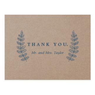 Rustikales Blumen| Imitat Kraftpapier dankt Ihnen Postkarte