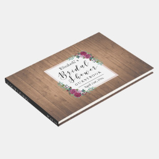 Rustikales BlumenBrautparty-Gastbuch Gästebuch