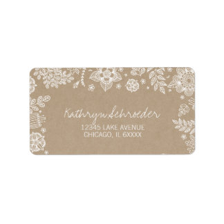 Rustikales Blumenostern Adressen-Etikett Adressaufkleber