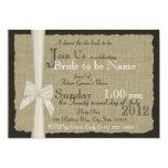 Rustikales Bogen-und Leinwand-Brautparty Personalisierte Einladungskarten