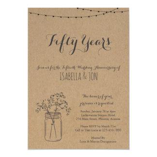 Rustikales Braunes Packpapier der Jahrestags-Party Karte