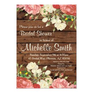 Rustikales Brautparty laden, die Blume ein, mit Karte