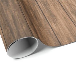 Rustikales Brown-Holz Geschenkpapier