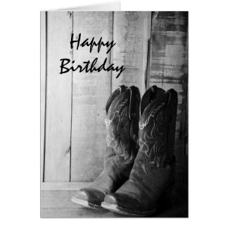 Rustikales Cowboystiefel-alles Gute zum Geburtstag Karte