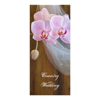 Rustikales Eleganz-Land-Hochzeits-Programm Individuelle Werbe Karte