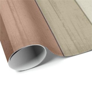 Rustikales Erdton-Holz Geschenkpapier