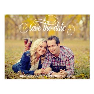 Rustikales Foto, das Save the Date Karte Wedding