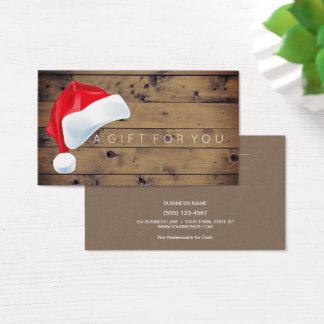 Rustikales Geschenk-Karten-Zertifikat des Visitenkarte