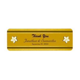 Rustikales GoldblumenGastgeschenk Rückversand-Adressaufkleber