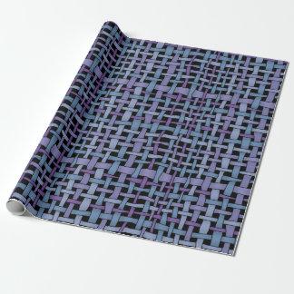 Rustikales grafisches gesponnenes blaues lila geschenkpapier