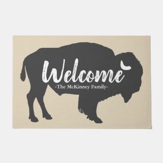 Rustikales graues Büffel-Bison-u. Türmatte