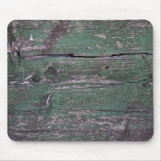 Rustikales grünes Holz Mousepad