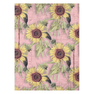 Rustikales Herbst-Sonnenblume-Muster Tischdecke