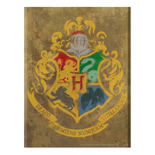 rustikales hogwarts wappen harry potter postkarte zazzle. Black Bedroom Furniture Sets. Home Design Ideas