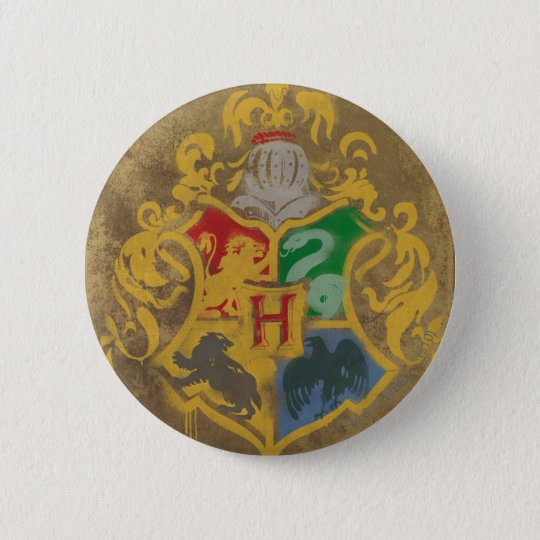Rustikales Hogwarts Wappen Harry Potter | Runder Button 5,7 Cm