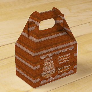 Rustikales Imitat-hölzerner Gastgeschenk Geschenkschachtel