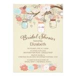 Rustikales Land-Maurer-Glas-Brautparty Personalisierte Einladungskarten