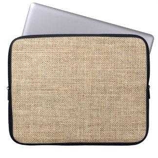 Rustikales Land-Vintage Leinwand Laptopschutzhülle