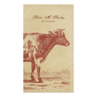 Rustikales Land-Vintages Milch-Kuh-einfaches Visitenkarten Vorlage