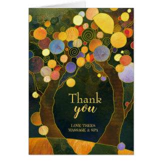 Rustikales Liebe-Baum-Geschäft danken Ihnen Karte