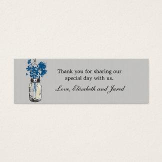 Rustikales Maurer-Glas u. Mini-Visitenkarten