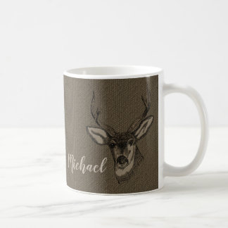 Rustikales Monogramm des Kaffeetasse
