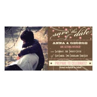 Rustikales Plakat: Erdbeerkremeis Save the Date Photokarten