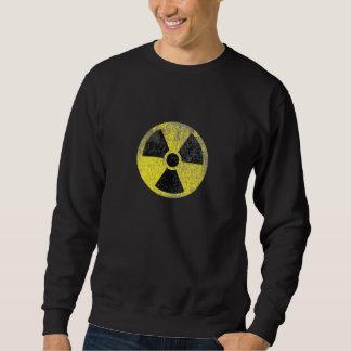 Rustikales radioaktives Warnzeichen Sweatshirt
