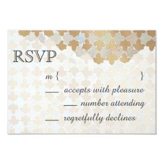 Rustikales Romance Imitat-Goldfolien-Mosaik der 8,9 X 12,7 Cm Einladungskarte