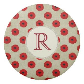 Rustikales rotes Blumen-Muster Radiergummi 1