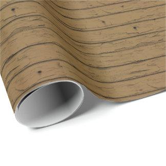 Rustikales Scheunen-Holz in einem TAN Brown Geschenkpapier