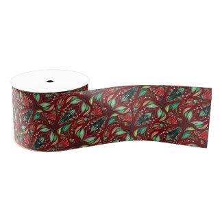 Rustikales schönes stilvolles mit Blumenmuster des Ripsband