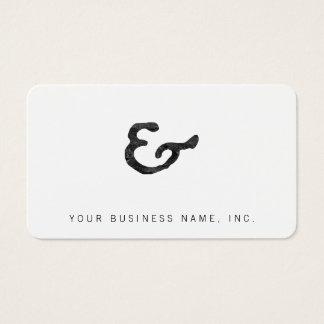 Rustikales schwarzes Briefbeschwerer-Etzeichen Visitenkarte