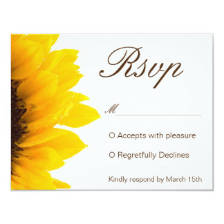 Rustikales Sonnenblume-Einladung UAWG 10,8 X 14 Cm Einladungskarte