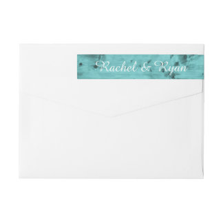 Rustikales Strand-Hochzeits-Monogramm-aquamarines