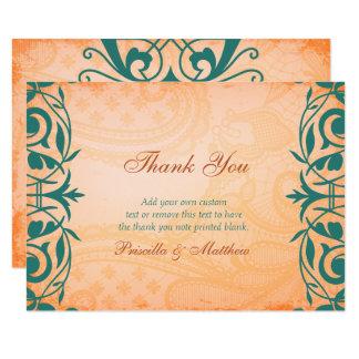 Rustikales, toskanisches aquamarines danken Ihnen 8,9 X 12,7 Cm Einladungskarte