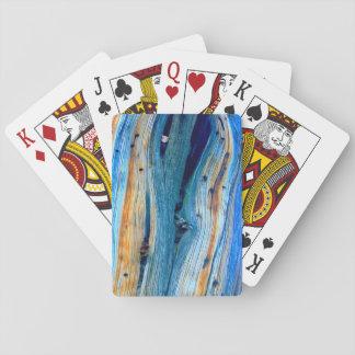 rustikales verwittertes Wacholderbuschbrett Spielkarten