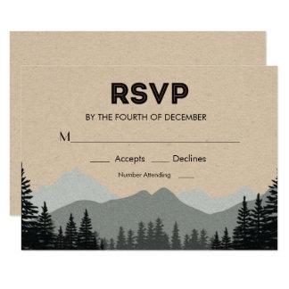 Rustikales Waldkiefern-Baum-Hochzeit UAWG Karte