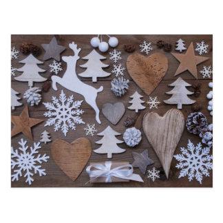 Rustikales Weihnachten Postkarte