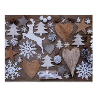 Rustikales Weihnachten Postkarten