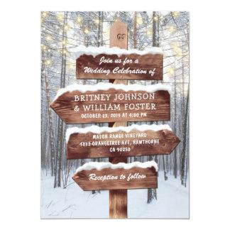 Rustikales Winter-Märchenland-Waldland beleuchtet Karte