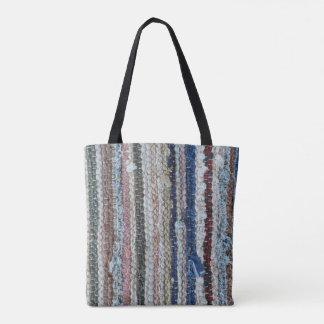 rustikales Wolldeckebeschaffenheitstextilselbst Tasche