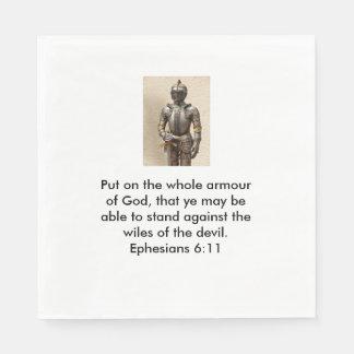 Rüstung der Gott-Servietten w/Armour Papierserviette